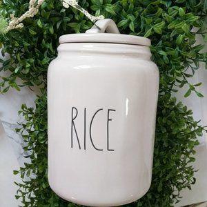 Rae Dunn Rice Canister